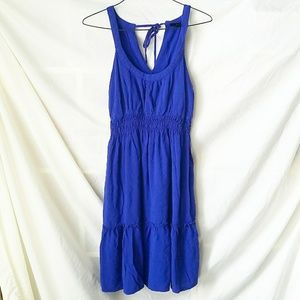 Mossino Blue Sleeveless Dress